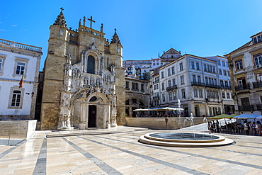 Santa Cruz Monastery, UNESCO World Heritqage Site, Coimbra old city, Beira Province, Portugal, Europe
