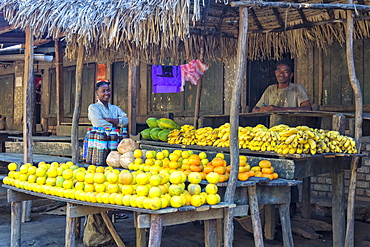 Fruit stall along the road, Fort Dauphin, Toliara Province, Madagascar, Africa