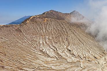 Kawah Ijen volcano slope (Ijen crater), Banyuwangi, East Java, Indonesia, Southeast Asia, Asia