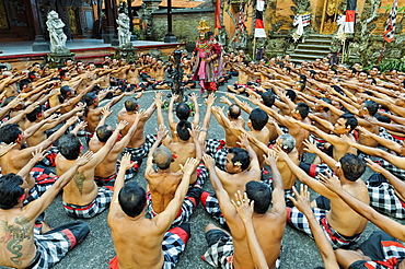 Performance of the Balinese Kecak dance, Ubud, Bali, Indonesia, Southeast Asia, Asia