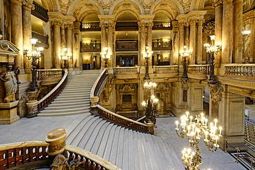 Opera Garnier, Grand Staircase, Paris, France, Europe