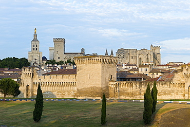 Palais des Papes, UNESCO World Heritage Site, Avignon, Vaucluse, Provence, France, Europe