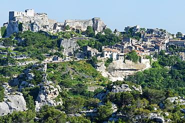 Medieval village of Les Baux de Provence, Bouches du Rhone, Provence Alpes Cote d'Azur region, France, Europe
