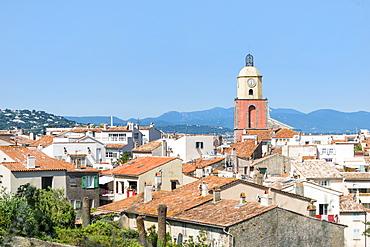 View over St. Tropez, Var, Provence Alpes Cote d'Azur region, French Riviera, France, Mediterranean, Europe