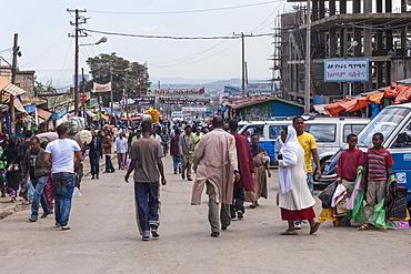 Market street scene, Mercato of Addis Ababa, Ethiopia