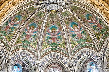 Crypt, Basilica Notre-Dame de Fourviere, UNESCO World Heritage Site, Lyon, Rhone, France, Europe