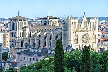 Lyon Cathedral (Saint John the Baptist Primatial), Lyon, Rhone, France, Europe