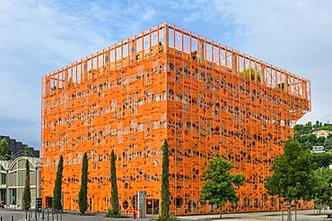 Orange Cube, La Confluence district, Lyon, Rhone, France, Europe