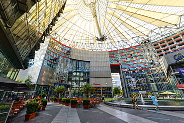Sony Center interior near Potsdamer Platz, Berlin, Brandenburg, Germany, Europe
