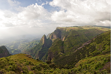 Simien Mountains National Park, UNESCO World Heritage Site, Amhara region, Ethiopia, Africa