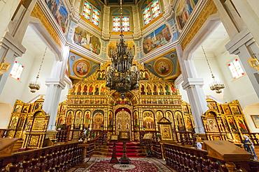 Interior, Ascension Cathedral (Zenkov Cathedral), Panfilov Park, Almaty, Kazakhstan, Central Asia, Asia