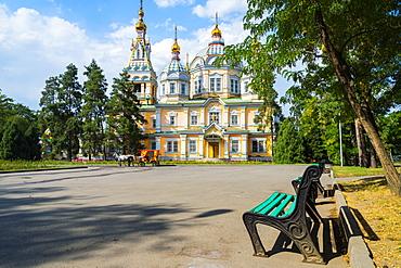 Ascension Cathedral (Zenkov Cathedral), Panfilov Park, Almaty, Kazakhstan, Central Asia, Asia