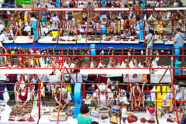 Zelyony Bazar (Green Market), Meat Market, Almaty, Kazakhstan, Central Asia, Asia