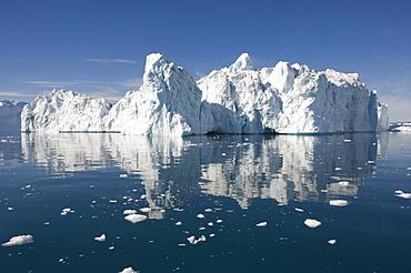 Icebergs in Disko Bay, UNESCO World Heritage Site, Ilulissat (Jakobshavn), Greenland, Denmark, Polar Regions