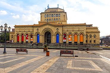 Republic Square in the morning, Yerevan, Armenia, Caucasus, Asia