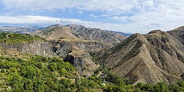 View over the mountains surrounding Garni, Kotayk Province, Armenia, Caucasus, Asia