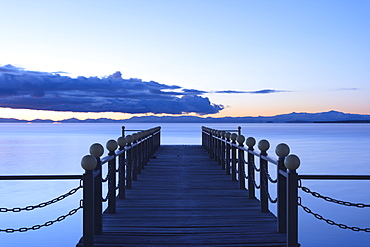 Lake Sevan, early morning, freshwater high-altitude lake, Gegharkunik Province, Armenia, Caucasus, Asia