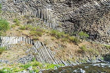 Symphony of Stones, Basalt columns formation along Garni gorge, Kotayk Province, Armenia, Caucasus, Asia