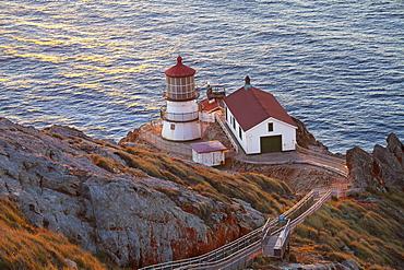 Historic Point Reyes Lighthouse, Point Reyes National Seashore, California, United States of America, North America