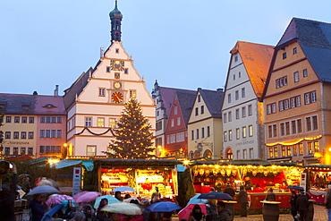 Christmas Market, Rothenburg ob der Tauber, Bavaria, Germany, Europe