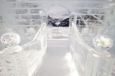 Ice Sculpture, Lake Louise, Banff National Park, Alberta, Canada, North America
