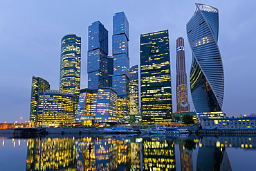 Moscow City skyscrapers, Moscow, Russia, Europe