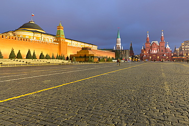Red Square, Lenin's Tomb, and the State History Museum, Moscow, Russia, Europe