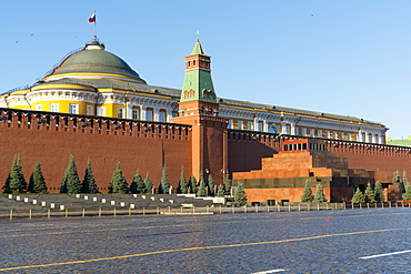 Lenin's Tomb and the Kremlin Walls, Red Square, UNESCO World Heritage Site, Moscow, Russia, Europe
