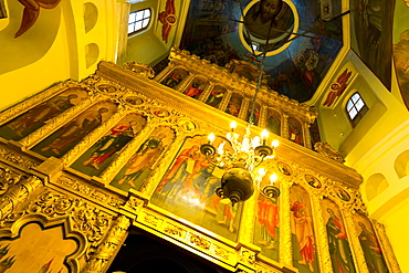 Iconostasis inside St. Basil's Cathedral, Moscow, Russia, Europe