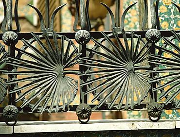 Ironwork by Gaudi, Casa Vicens, Barcelona, Catalonia, Spain, Europe