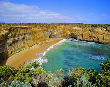 Beach and cliffs, the Great Ocean Road, Victoria, Australia