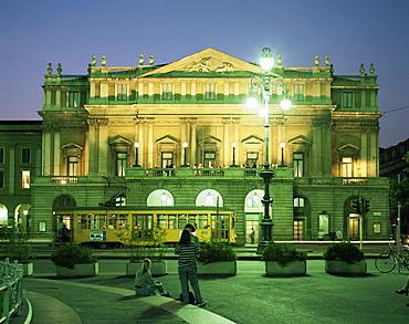La Scala Opera House, Milan, Lombardia, Italy, Europe