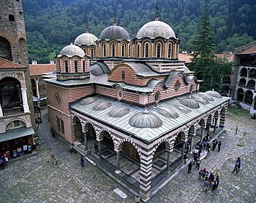 Main church, Rila monastery, UNESCO World Heritage Site, Bulgaria, Europe