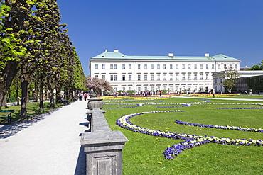 Mirabell Gardens and Schloss Mirabell, Salzburg, Salzburger Land, Austria, Europe