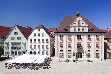 Old town with market place and town hall, Rottenburg am Neckar, near Tubingen, Baden Wurttemberg, Germany, Europe