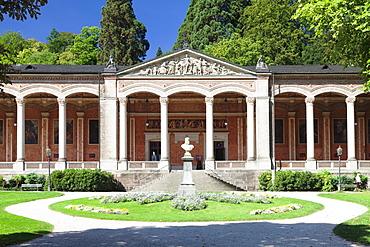 Trinkhalle pump room with Corinthian columns, Baden-Baden, Black Forest, Baden Wurttemberg, Germany, Europe