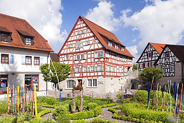 Half timbered house, old town, Vellberg, Hohenlohe Region, Baden Wurttemberg, Germany, Europe