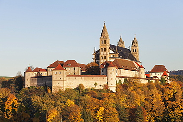 Benedictine Abbey of Kloster Grosscomburg (Comburg), Steinbach, Kochertal Valley, Schwabisch Hall District, Hohenlohe, Baden Wurttemberg, Germany, Europe