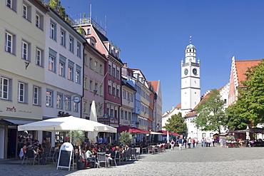Marienplatz Square with Waaghaus and Blaserturm Tower, Ravensburg, Upper Swabia, Baden Wurttemberg, Germany, Europe