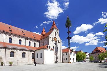 Sankt Veit Basilica, Market Place, Ellwangen, Baden Wurttemberg, Germany, Europe