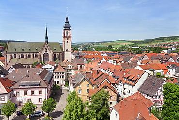 Stadtkirche St. Martin Church, old town of Tauberbischofsheim, Taubertal Valley, Main Tauber District, Baden Wurttemberg, Germany, Europe