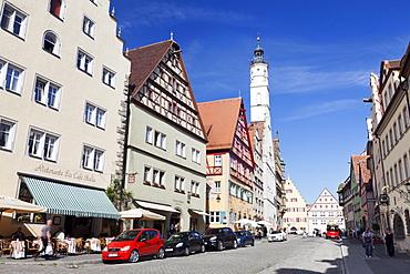 Townhall, Rothenburg ob der Tauber, Romantic Road (Romantische Strasse), Franconia, Bavaria, Germany, Europe