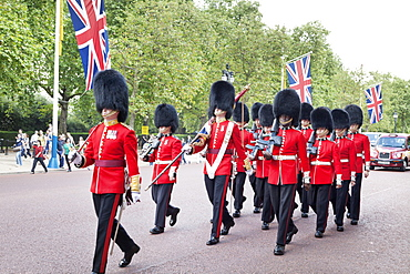 Changing of the Guard, The Mall, City of Westminster, London, England, United Kingdom, Europe