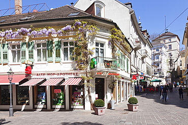 Pedestrian area, Baden-Baden, Black Forest, Baden-Wurttemberg, Germany, Europe