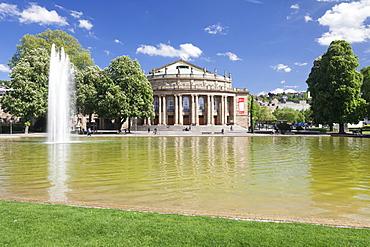 Opera House, Eckensee Lake, Schlosspark, Stuttgart, Baden-Wurttemberg, Germany, Europe