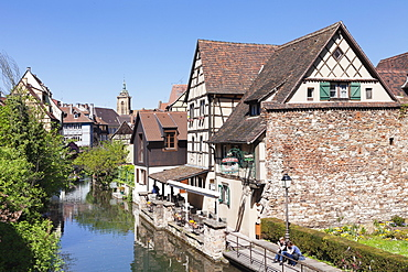 Lauch River, Little Venice, Colmar, Alsace, France, Europe