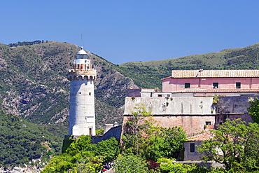 Lighthouse, Forte Stella, Portoferraio, Island of Elba, Livorno Province, Tuscany, Italy, Europe