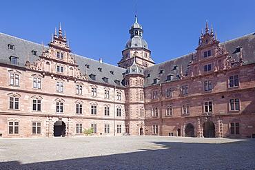 Schloss Johannisburg Castle, Aschaffenburg, Mainfranken, Lower Franconia, Bavaria, Germany, Europe