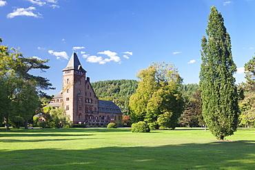 Saareck Castle, Mettlach, Saarland, Germany, Europe