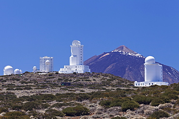 Observatory at Pico del Teide, National Park Teide, UNESCO World Heritage Natural Site, Tenerife, Canary Islands, Spain, Europe